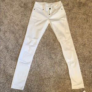 Maurice's white jean jeggins small long